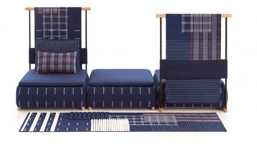 Neri&Hu design modular rug, screen and sofa collection for Gan