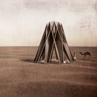 Nomad pavilion designed to double as shelter and water-collecting tower for Jordanian desert
