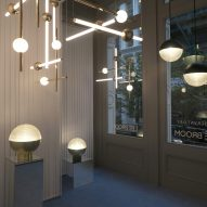 Lee Broom debuts globe-shaped lamp at his Observatory installation in New York