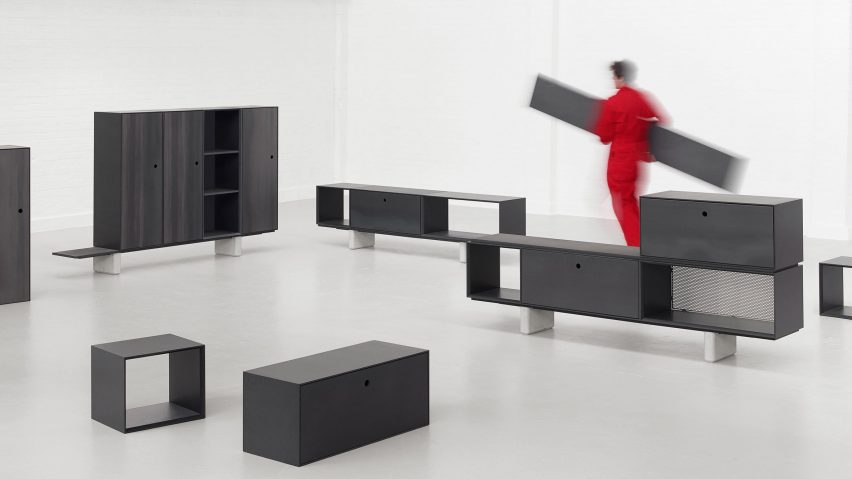 Paul Crofts Designs Storage System For Isomi Made Up Of Modular Wooden Units