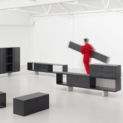 modular furniture system. Paul Crofts Designs Storage System For Isomi Made Up Of Modular Wooden Units Furniture