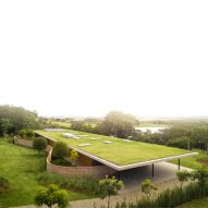 Monumental grass roof covers Planar House in Brazil by Studio MK27