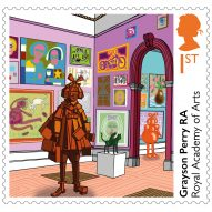 Grayson Perry and Tracey Emin mark Royal Academy's 250th anniversary with bespoke stamp designs