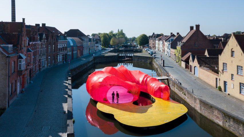 SelgasCano pavilion for Trienniale Bruges