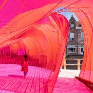 SelgasCano creates bulging vivid-pink pavilion for Bruges architecture festival