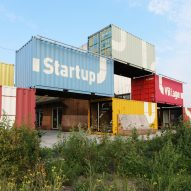 Shipping container village by Julius Taminiau offers space for startups in Amsterdam