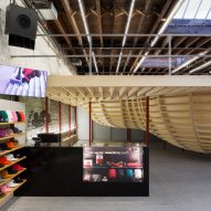Supreme store in Brooklyn by Neil Logan features an elevated skate bowl