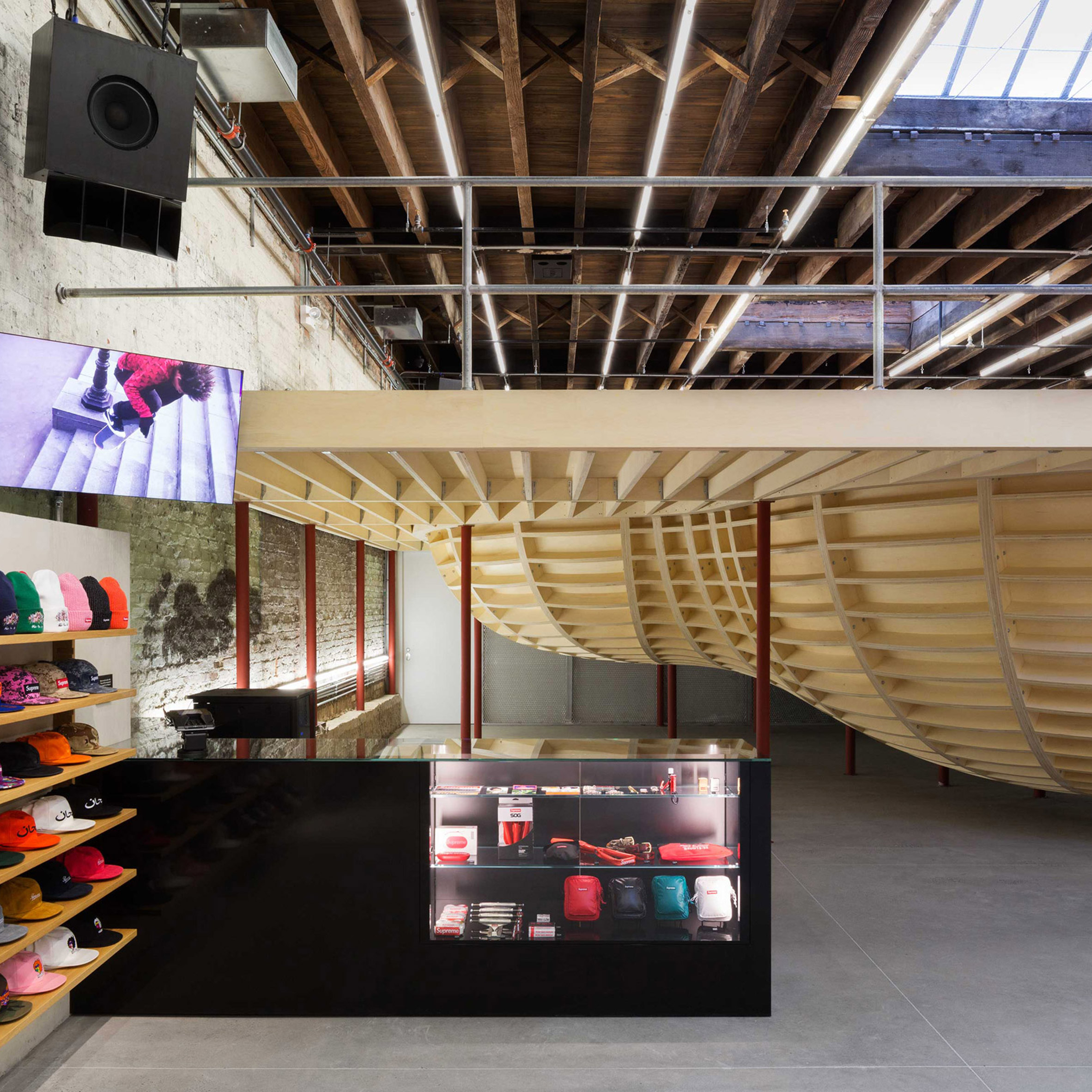 Supreme store in Brooklyn by Neil Logan features an elevated skate bowl 265b8ba54e