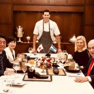 Dessert served to Japanese prime minister in Tom Dixon shoe
