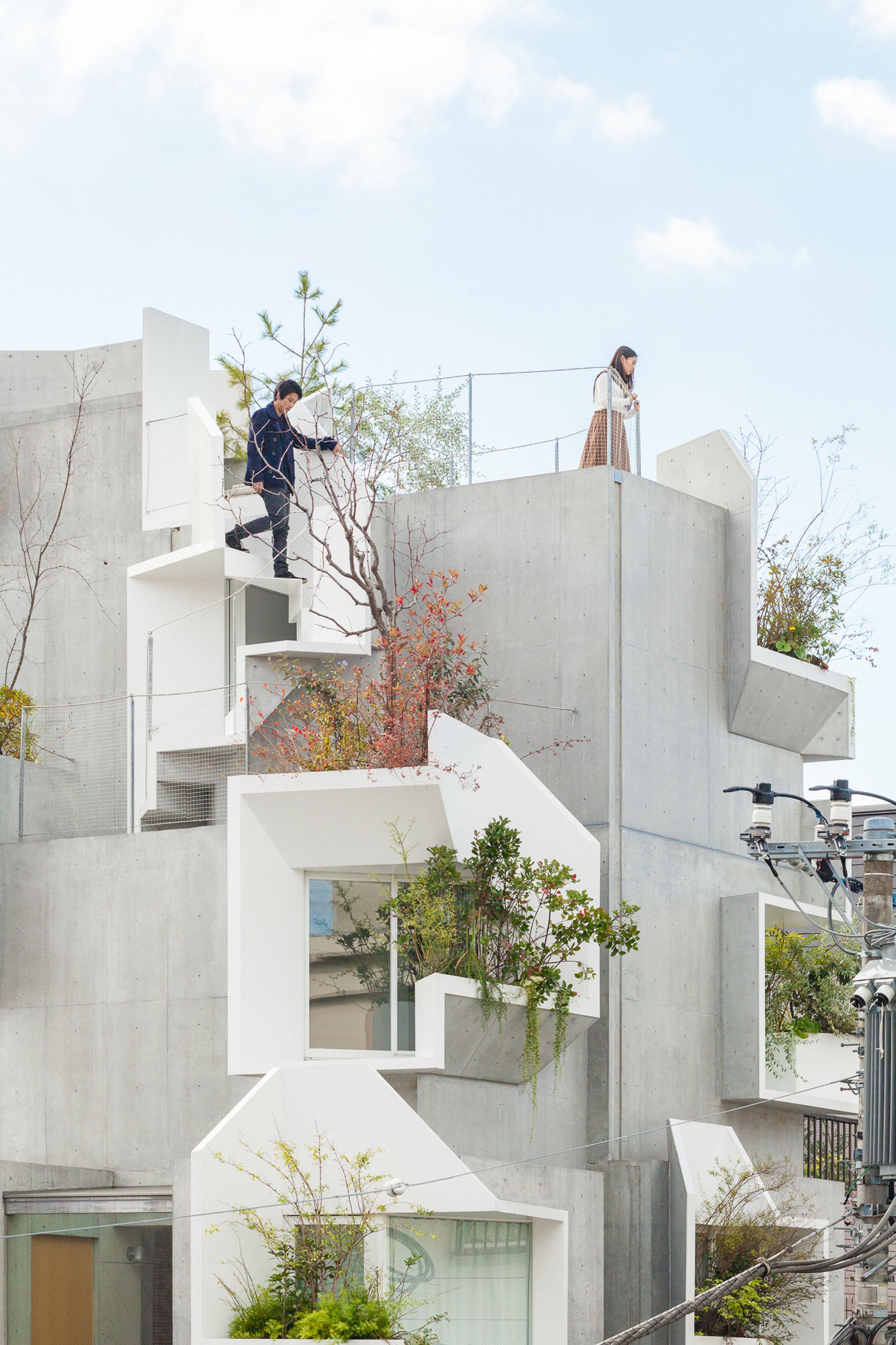 """Akihisa Hirata stacks concrete boxes to create """"futuristic and savage"""" Tree-ness House"""