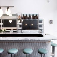 "Jordana Maisie designs ""deco meets industrial"" interior for Una Pizza Napoletana in New York"