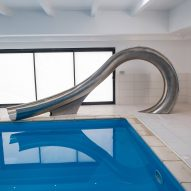 Splinterworks' stainless steel waterslide mimics barrel of a wave