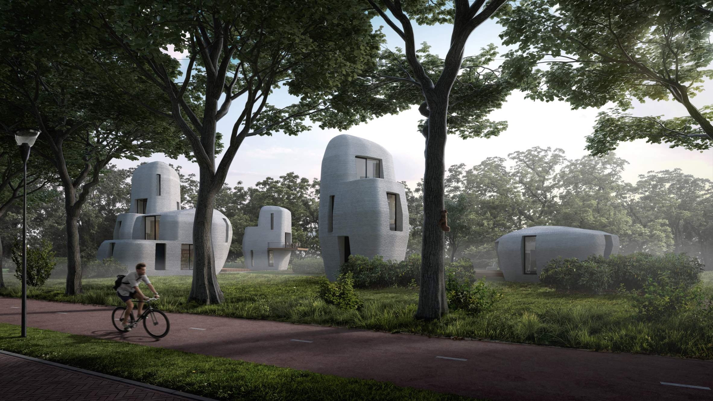 """Eindhoven to build """"world's first"""" 3D-printed houses that people will live inside"""