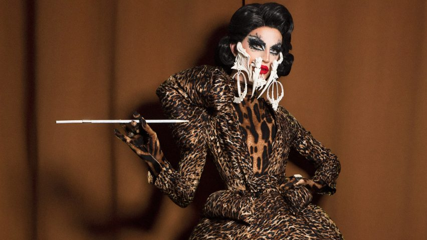 3D printed mask at Rupaul's Drag Race by Kevin Freitas Conlin