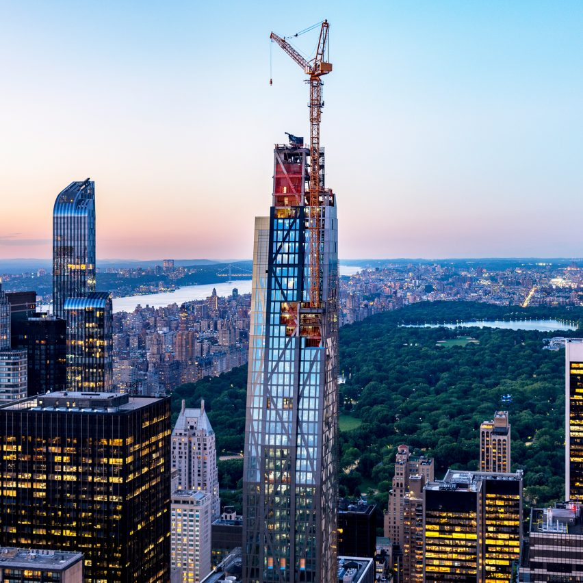 Jean Nouvel's 53W53 tower tops out over New York's MoMA