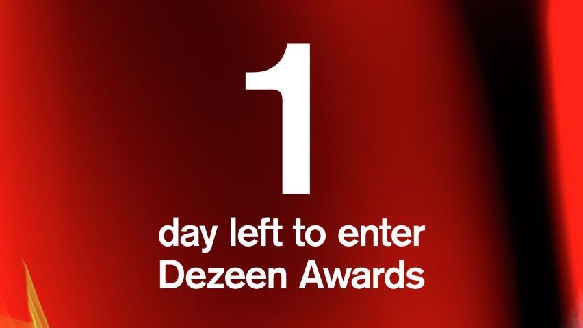 Dezeen Awards deadline is tomorrow at midnight UK time