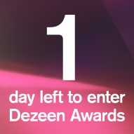 Dezeen Awards deadline is tomorrow