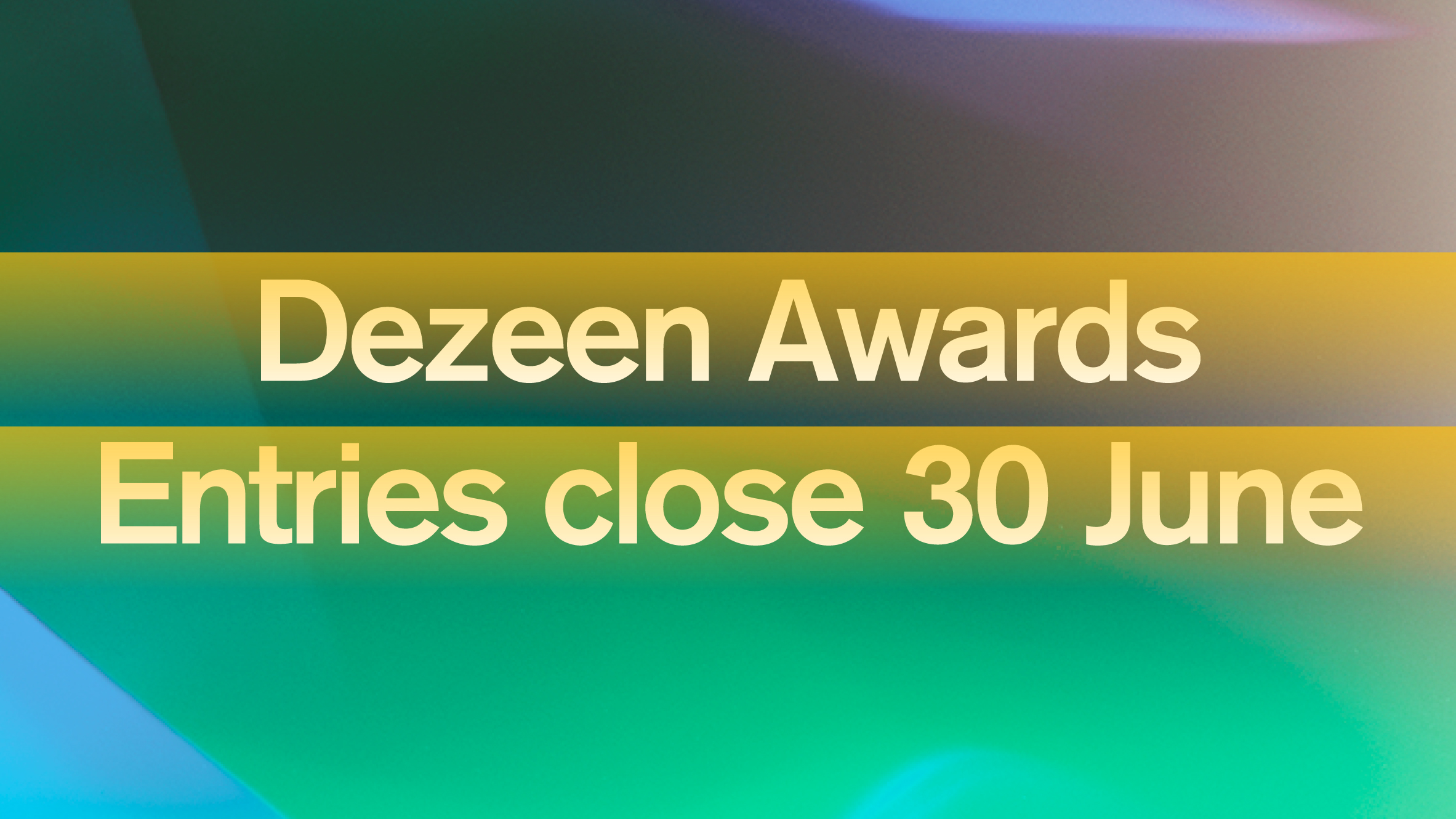 Dezeen Awards trophies to be designed by Atelier NL