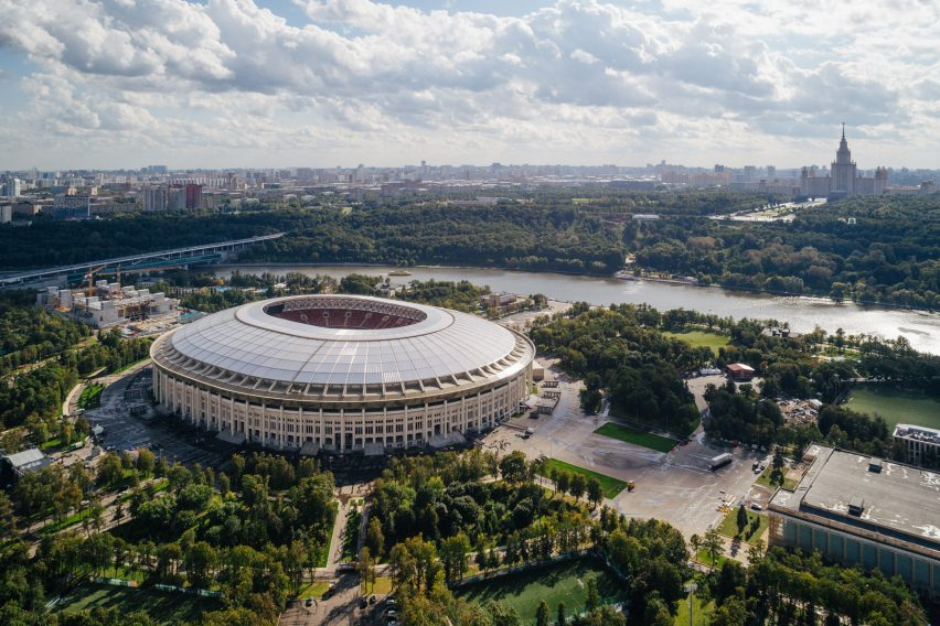 Luzhniki Stadium in Moscow refurbished for World Cup 2018