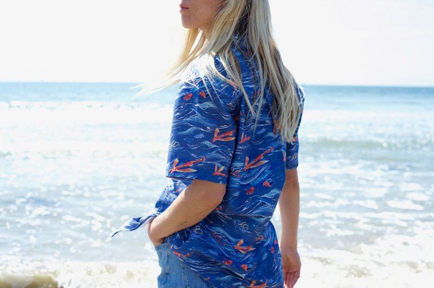 Adolfo Correa creates Hawaiian shirt from ocean plastic