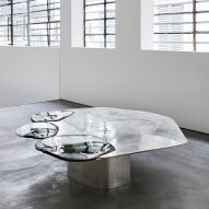 Pools of metal and glass form Vincenzo De Cotiis' Baroquisme furniture