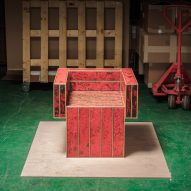 Kwangho Lee uses ancient enamelling process for collection of furniture