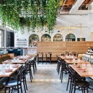 Studio Unltd turns light-filled warehouse into Bavel restaurant in LA