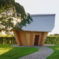 Thomas Schütte creates log cabin on Vitra Campus