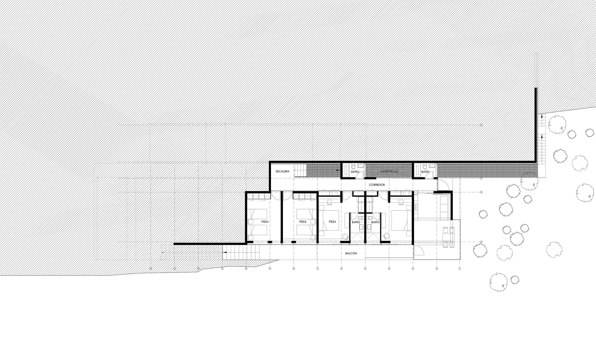 main floor plan casa el boldo by sun arquitectos