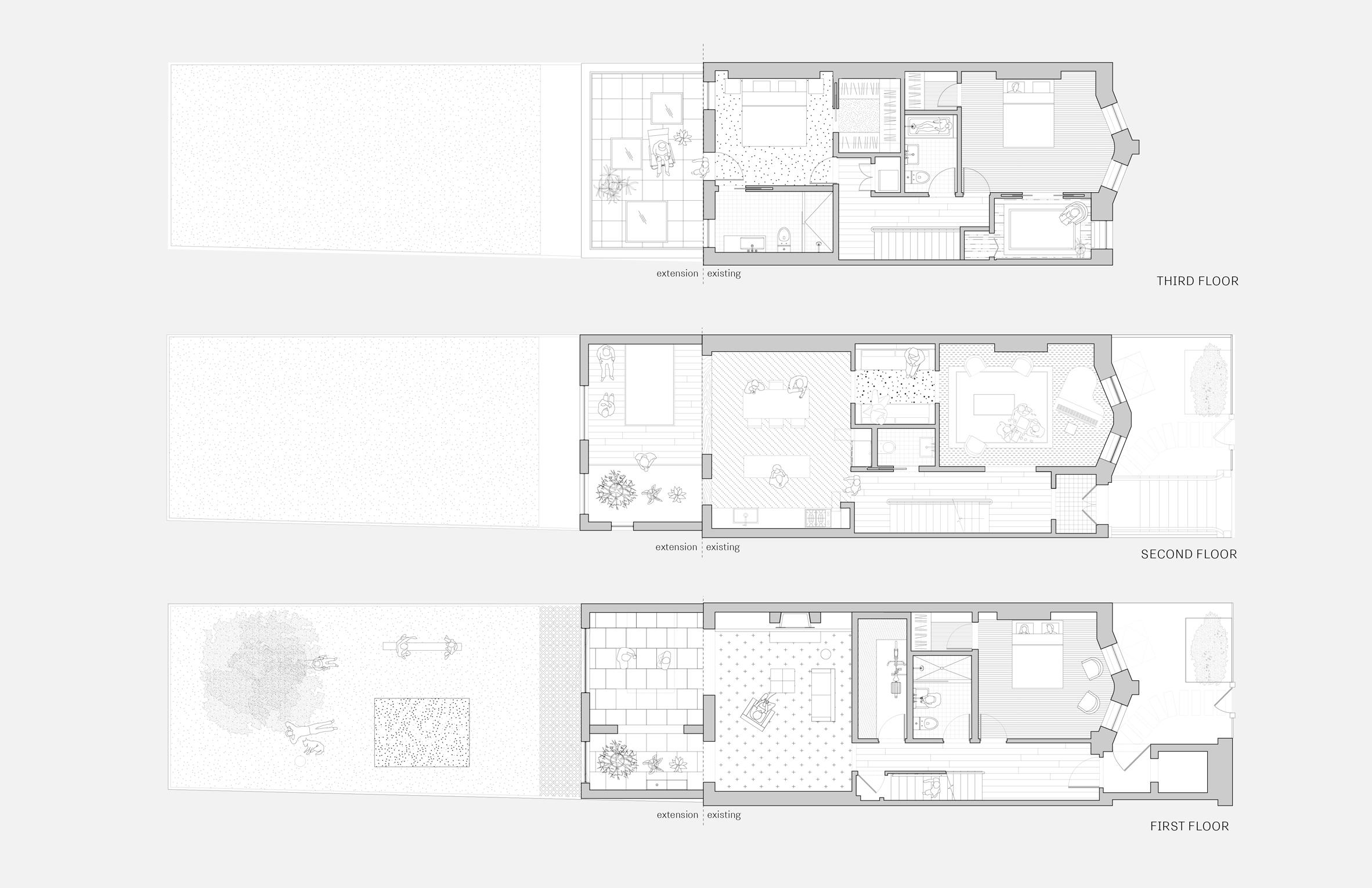 extended townhouse vondalwig architecture brooklyn new york dezeen floor plans - NGÔI NHÀ THÔNG THOÁNG VÀ TRÀN NGẬP ÁNH SÁNG TỰ NHIÊN