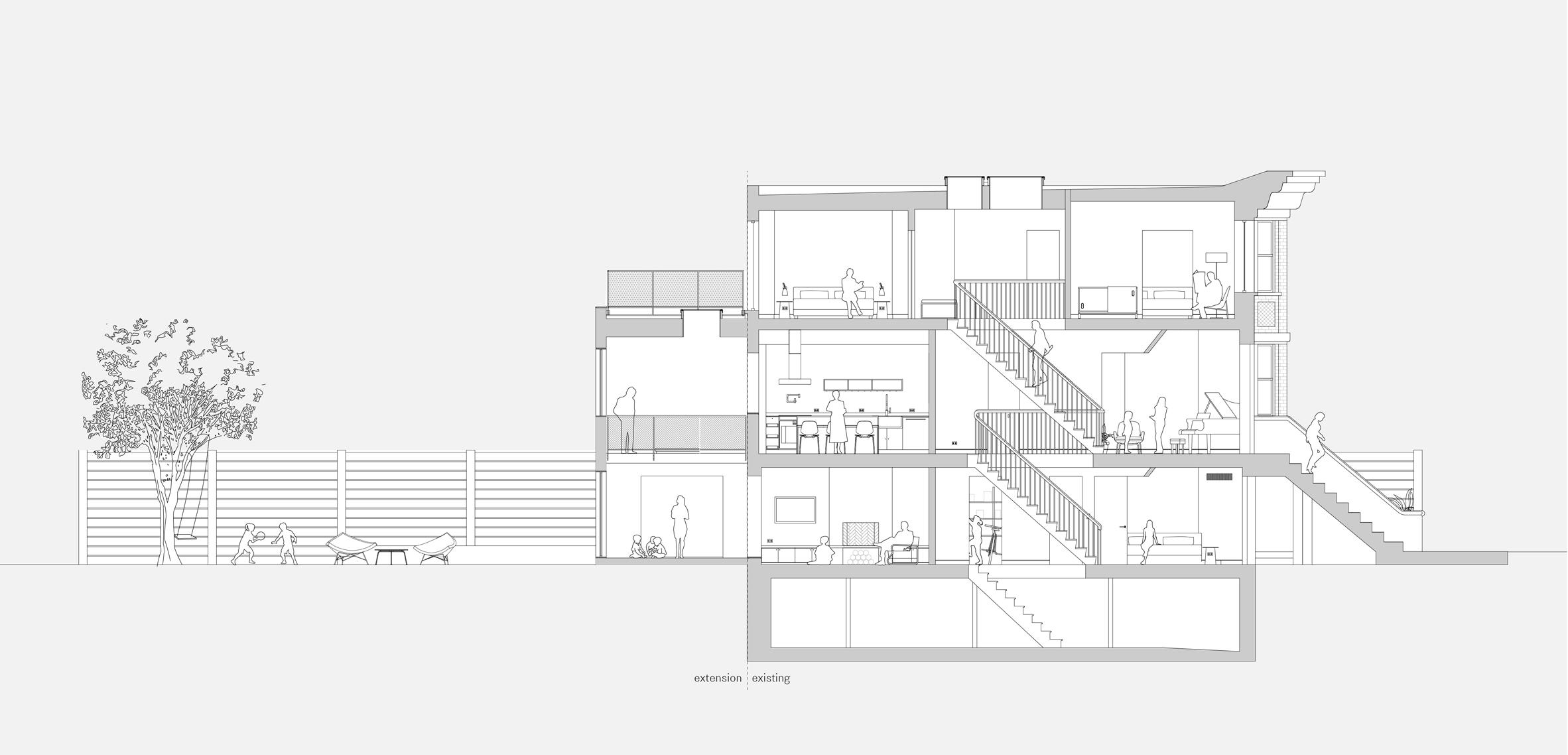 extended townhouse vondalwig architecture brooklyn new york dezeen section - NGÔI NHÀ THÔNG THOÁNG VÀ TRÀN NGẬP ÁNH SÁNG TỰ NHIÊN