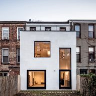 Skylights and voids bring daylight into extended Brooklyn row house