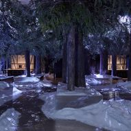 Hendrik Müller recreates The Black Forest in LA warehouse for Gaggenau's Restaurant 1683