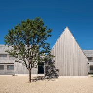 Bates Masi's Georgica Cove residence in East Hampton is modelled after historic farmsteads