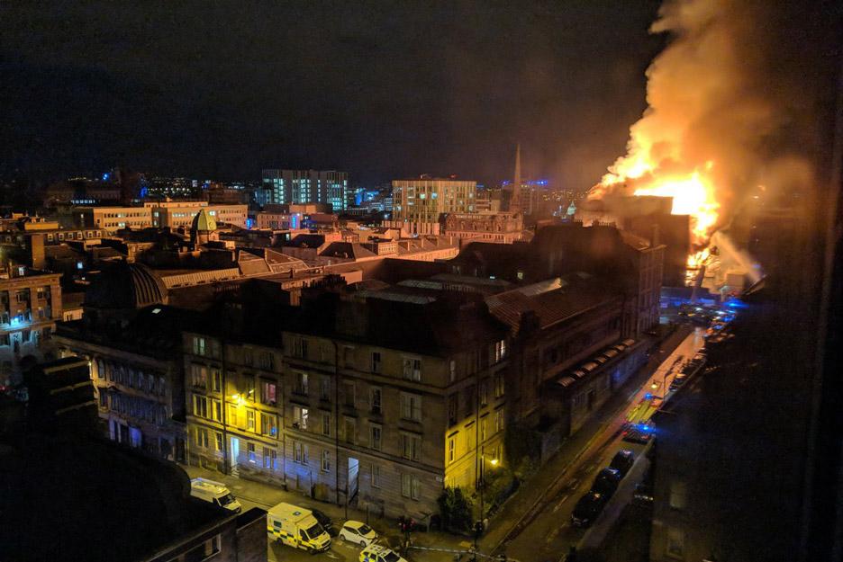 Fire devastates Mackintosh's Glasgow School of Art for a second time