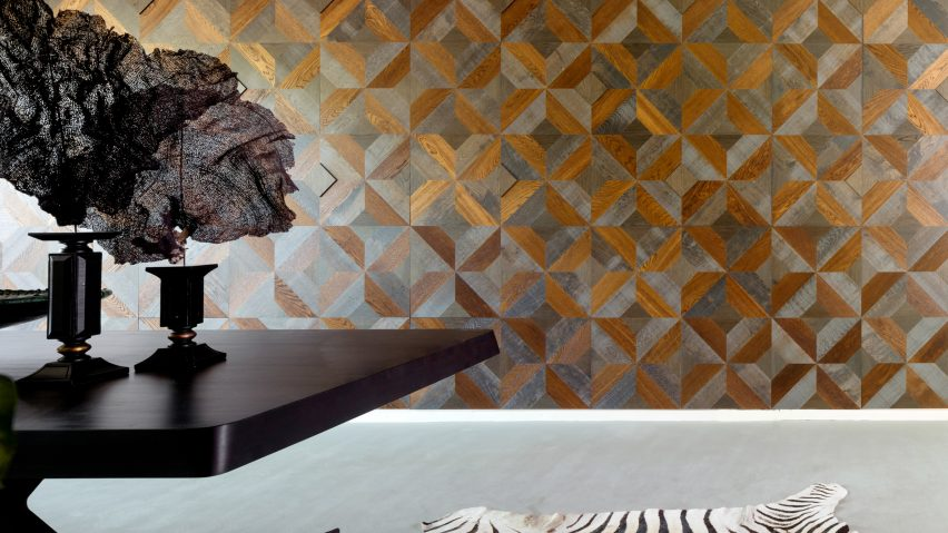 Hakwood S Geometric Tiles Can Be Used To Create Patterned Feature Walls