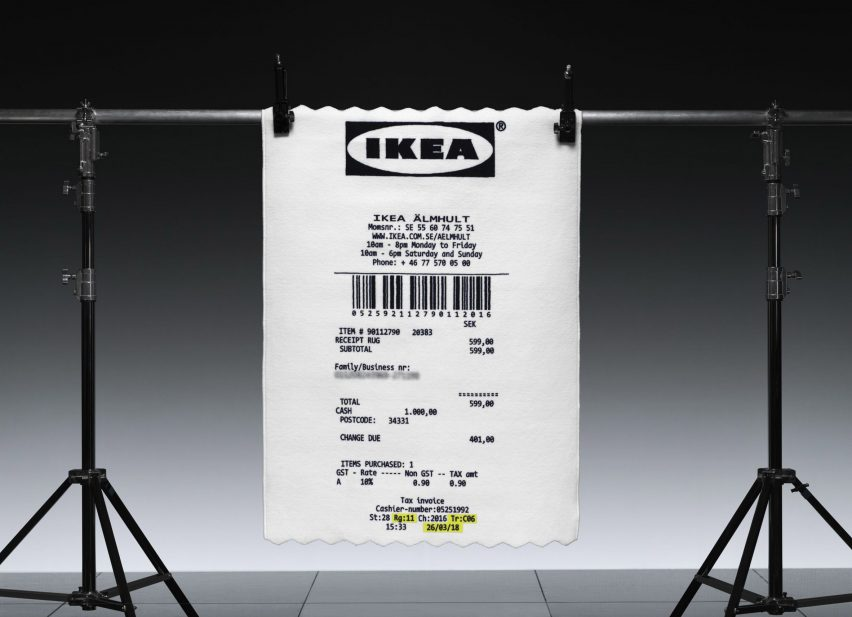 Virgil Abloh Adds Giant Receipt Rug To Upcoming Ikea Collection