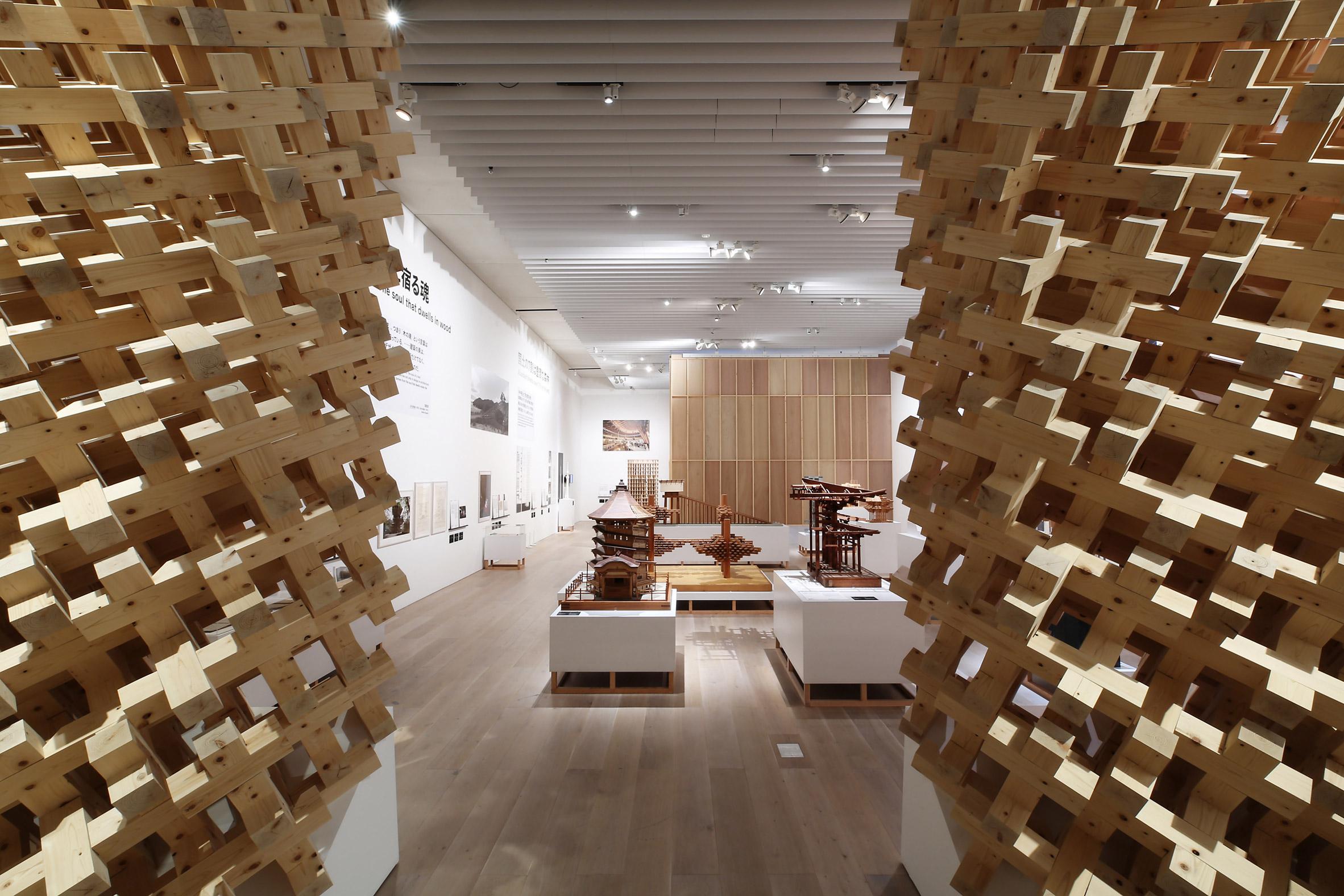 Japan in Architecture at Mori Art Museum, photograph by Koroda Takeru