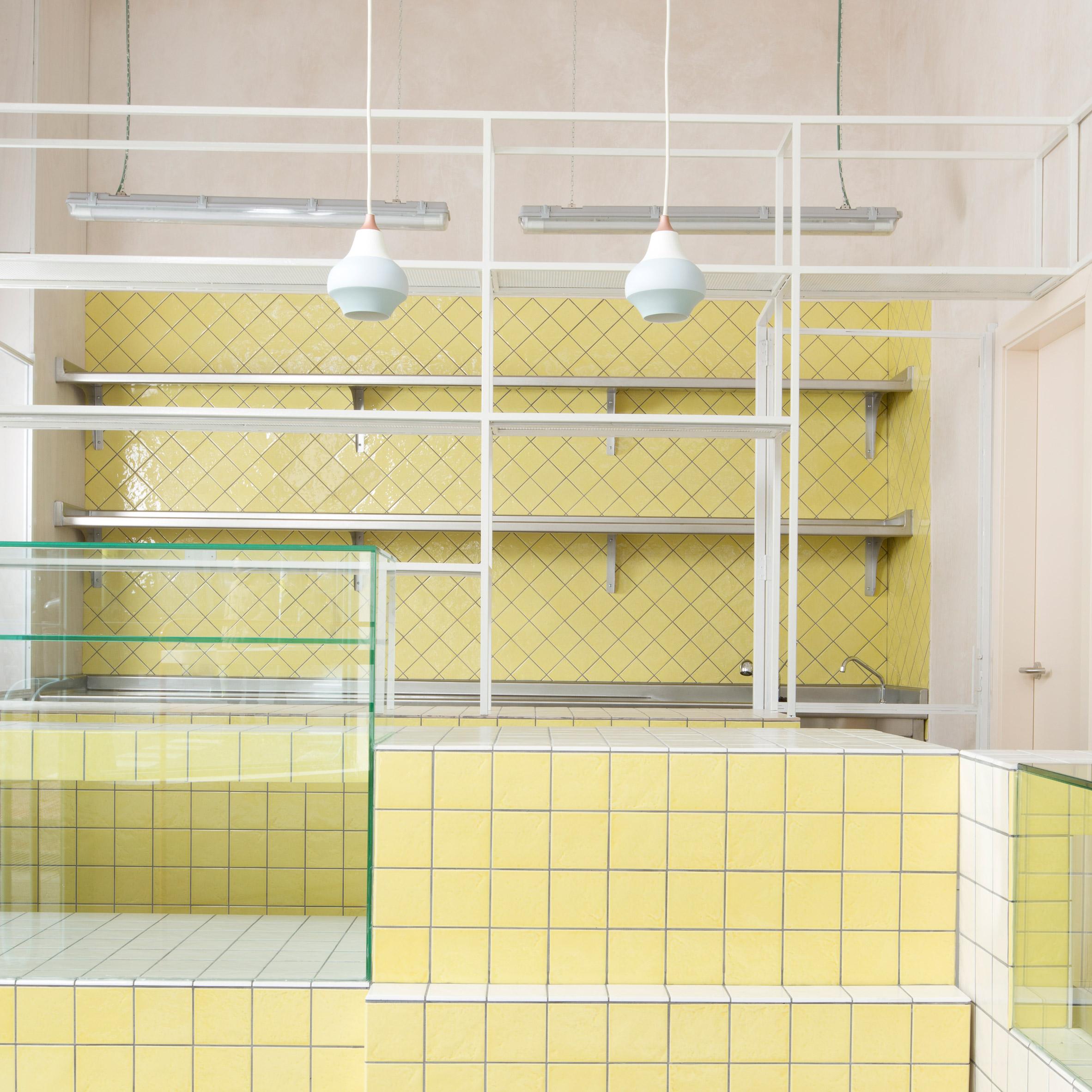 Baking ingredients inform soft-hued interiors of Juana Limón