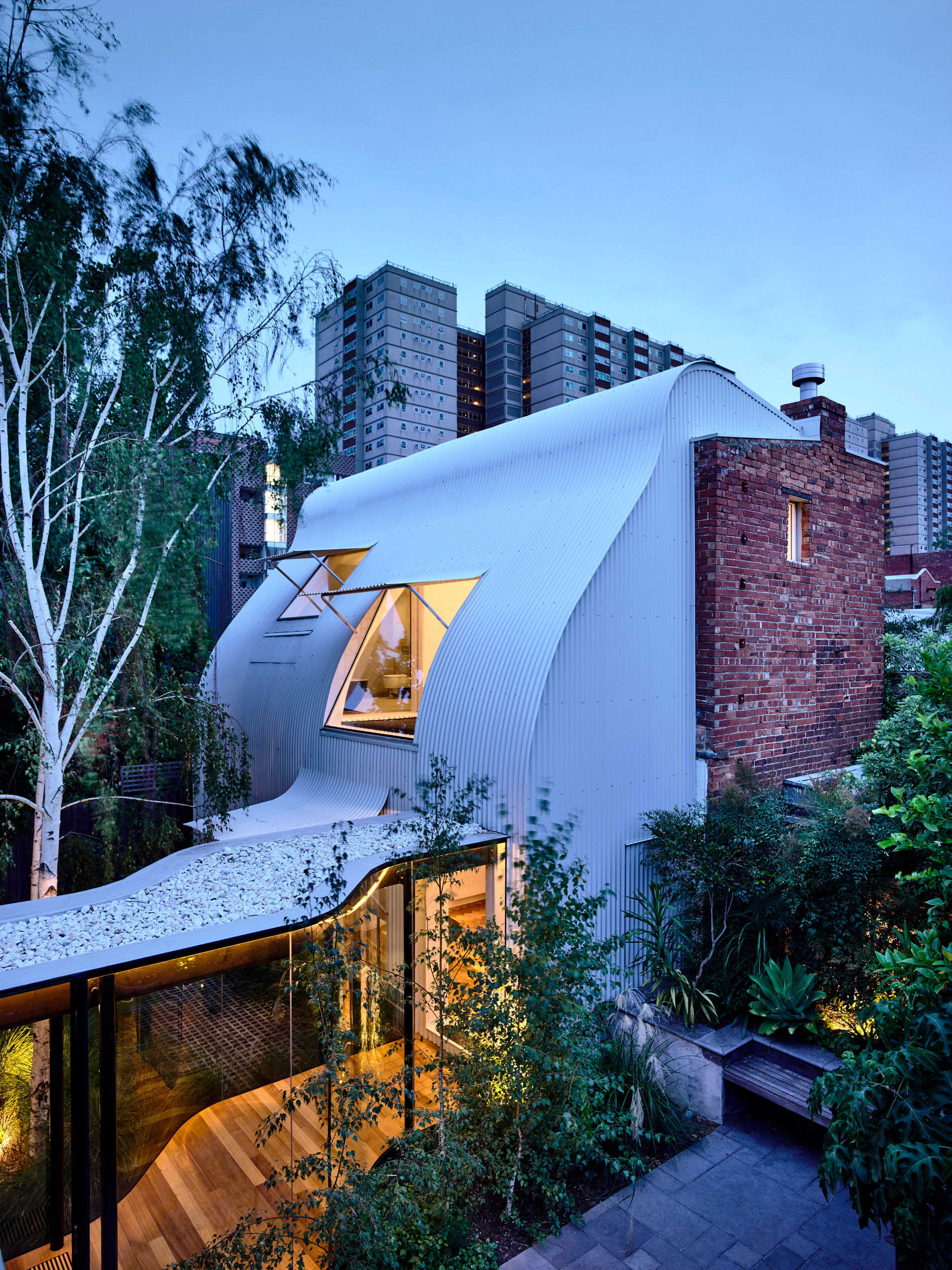 """Converted stable and """"pocket park"""" feature in revamped Melbourne house by Austin Maynard Architects"""