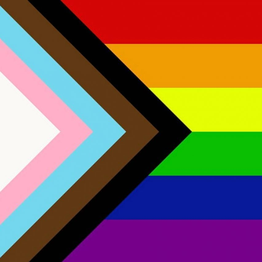 Dezeen's top 10 controversial stories of 2018: Daniel Quasar redesigns LGBT Rainbow Flag to be more inclusive