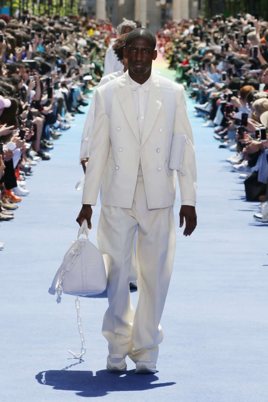 437a844151f7 Virgil Abloh makes debut for Louis Vuitton at Paris with rainbow runway