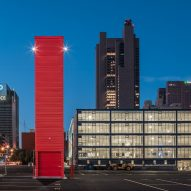 JBAD repurposes shipping container as MicroTower parking attendant booth