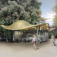 Mizzi Studio to build cafe with undulating metallic canopy opposite Serpentine Gallery