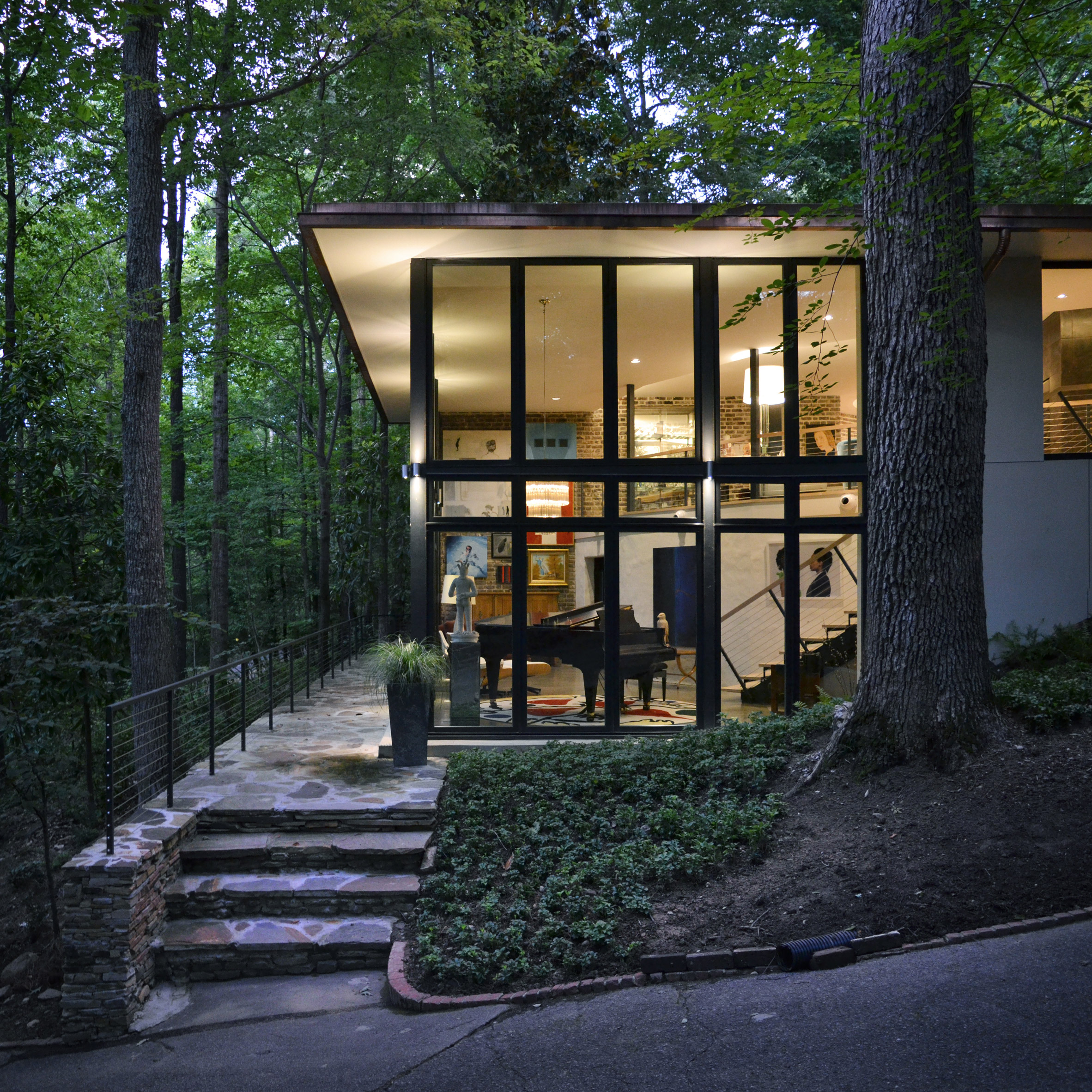 Design Initiative overhauls modernist Alabama home with new staircase and more windows