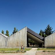 Timber-clad museum built on colonial farm in Chilean Patagonia