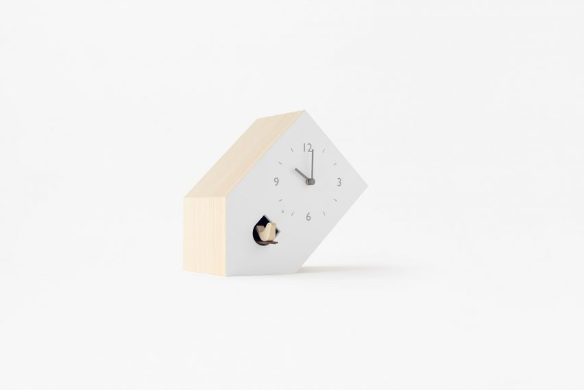 Nendo designs collection of unconventional cuckoo clocks