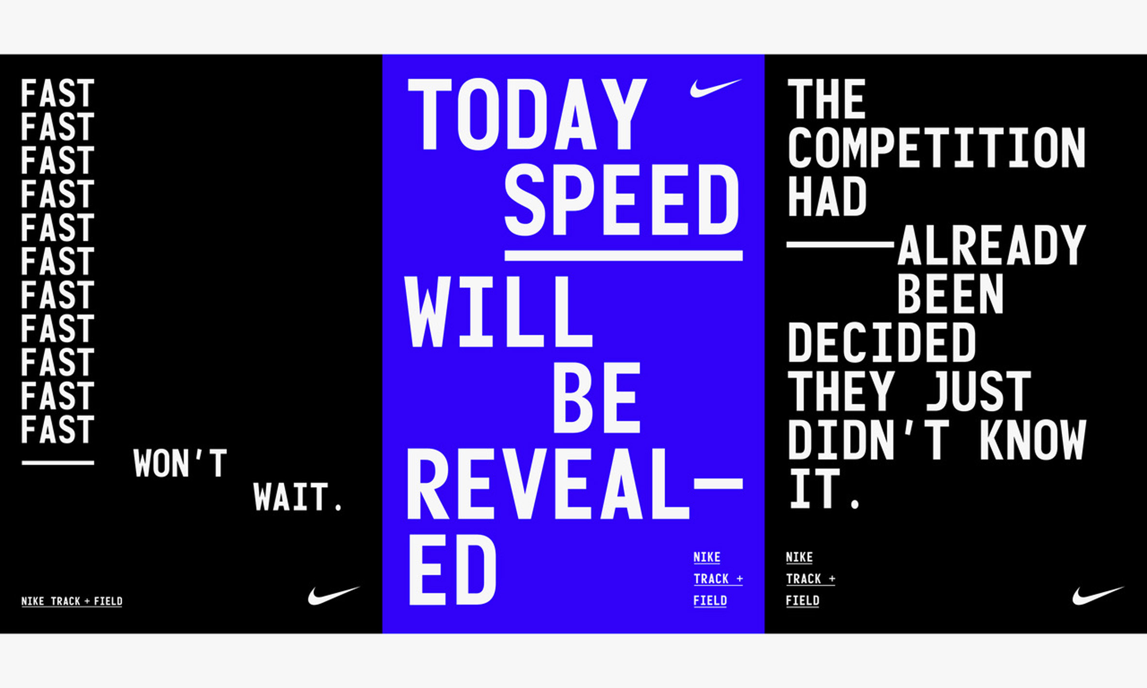 quality design f5daf b70ee ... Leeds-based creative agency Studio Build has created a new look for Nike s  Track+ ...