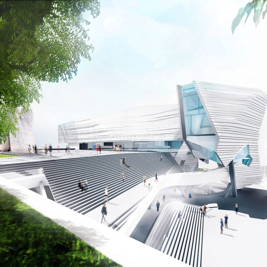 Morphosis unveils new home for orange county museum of art for Architecture firms orange county
