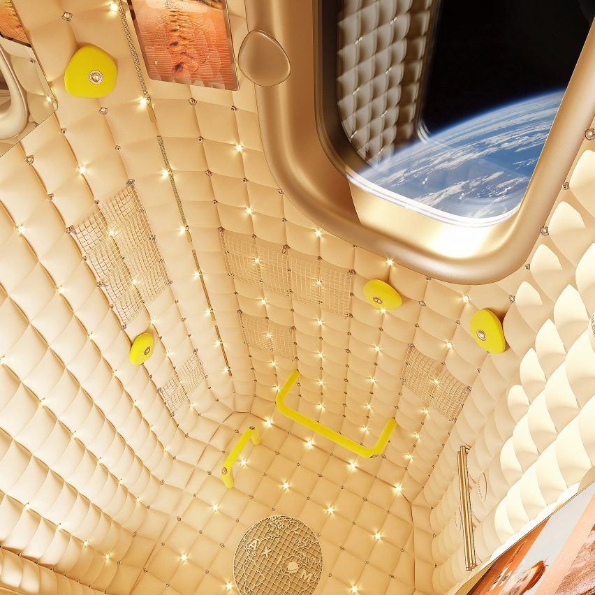 Philippe Starck designs habitation module interior for Axiom's space tourism program